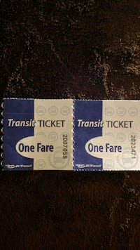 BC TRANSIT BUS TICKETS