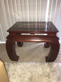 Used Solid Cherry Stained Wood End Table Haverty S For Sale In