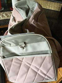 gray and white duffel bag 572 mi