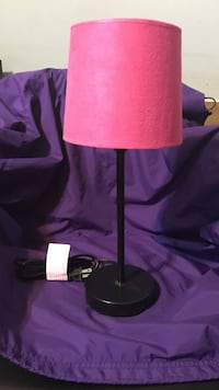 Black table lamp with pink cone shape lamp shade Laredo, 78045