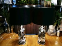 Orchid Lamps $75ea FIRM -one shade has chip inside Red Deer