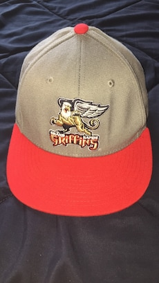 Grey and Red Griffins hat