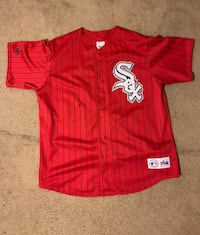 Vintage Retro 90's MLB Majestic Chicago White Sox Red Pinstriped Jersey Size Extra Large  Laurel, 20708
