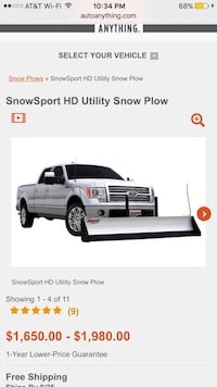 Floating Plow, used twice works great. Roanoke, 76262