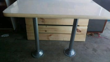 Table w mounts Rv trailer custom trailer