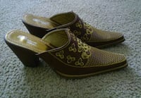 pair of brown leather slip-on shoes El Paso, 79904