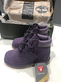 Purple Youth Timberland Boots (waterproof)