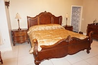 King size bed (mattress & night tables not included) Plant City