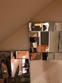 2 modern glass square mirrors modern  Los Angeles, 91324