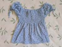Smocked (Off the Shoulder) Floral Top Mississauga, L5R