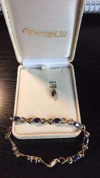 Whitehall Co sapphire tennis bracelet and pendant  Washington, 20002