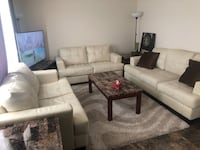White leather sofa set  Edmonton, T5X 2J8