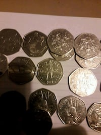 assorted silver and gold coins