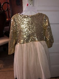 Toddler Gold Sequin Dress Size 4T Clifton, 07011