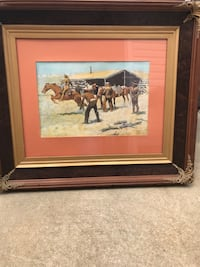 "Fredrick Remington 36"" x 32"" framed picture Newark, 07114"