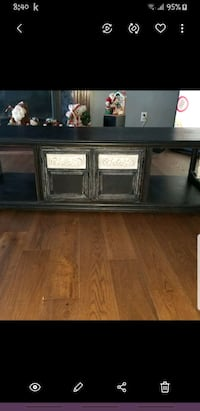 Refinished coffee table or TV stand with large storage space inside  Edmonton, T5Y 2S9