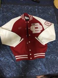 red and white letterman jacket Toronto, M5A 2E1