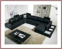 Divani Casa T35 - Modern Bonded Leather Sectional Sofa With Light KISSIMMEE