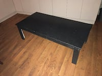 rectangular black wooden coffee table Montreal