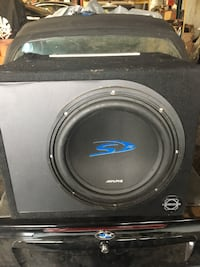"""Alpine 12"""" Subwoofer ($200.00) and JL Audio 1000 watts competition amplifier ($300.) Toronto, M1H 1T7"""