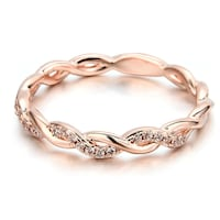 NWT Rose Gold Coloured Sterling Silver Ring  Toronto, M6S
