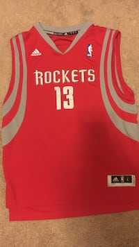 Rockets Harden Jersey NBA ADIDAS Authentic-Size YOUTH L