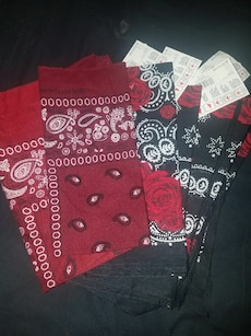 Red rose/ burgendy  bandana