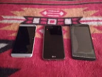 3 phones HTC .and lG with case and ZTE Edmonton
