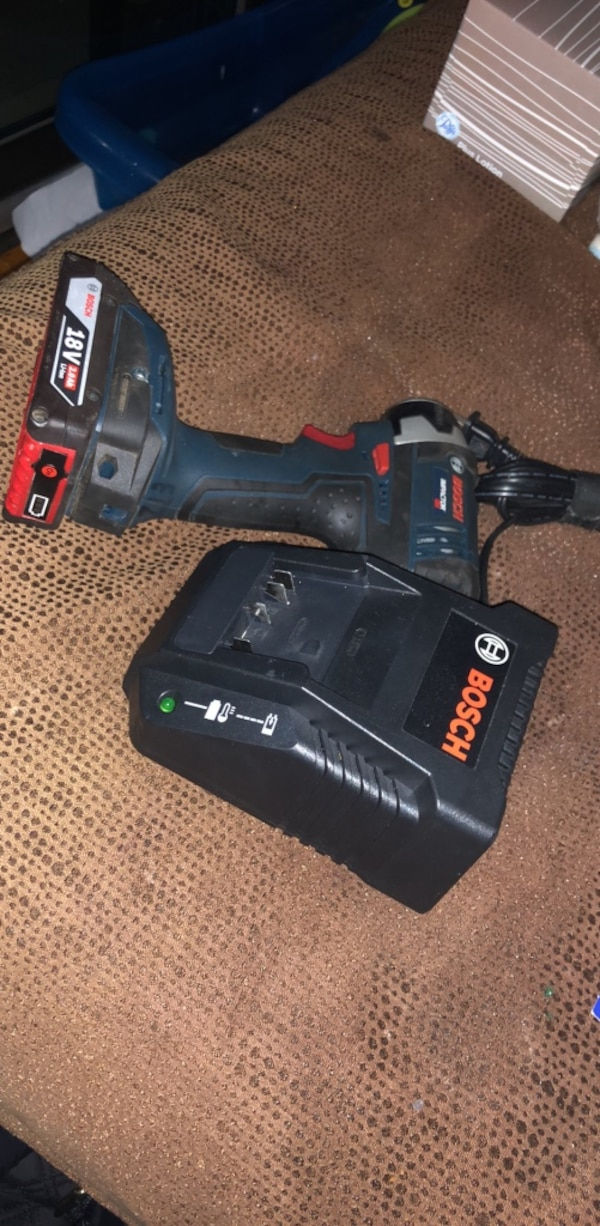 Bosch 18v 2.0 Ah impact drill, battery, and charger