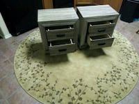 two gray wooden 2-drawer chests San Antonio, 78251