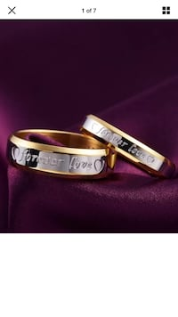 "Matching Couples ""forever love"" Rings"