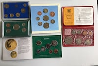 Collection of 1960s-1980s Vintage World Coin Sets Calgary, T2R 0S8