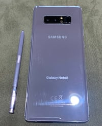Galaxy Note 8 with case, pop socket and charger included