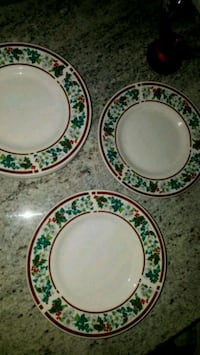white and green ceramic plates Carrollton, 75006