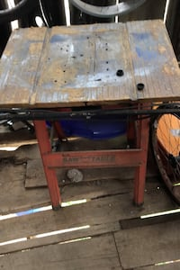 Work table. Saw table