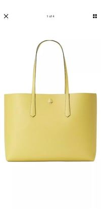 NWT kate spade large molly tote yellow