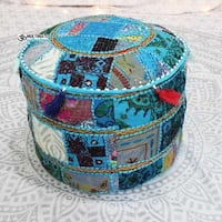 Authentic Moroccan pouf/ottoman Colombo