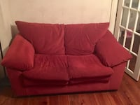 Red fabric 2-seat loveseat Herndon, 20171