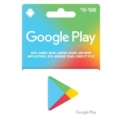 Google play gift card with receipt 150