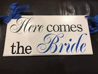 Here Comes the Bride Flower Girl Board. Free shipping to local area. Clinton, 20735
