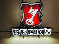 Beck's Neon sign