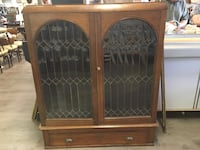 Gorgeous Antique Cabinet with Leaded Glass Doors London, N6E 2E5