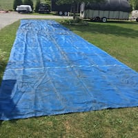 Blue industrial mesh tarp 12'x55' long. , N0A 1J0