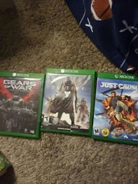 three Xbox One game cases Baltimore, 21225