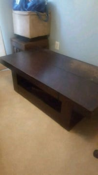 black wooden framed glass top TV stand Alexandria, 22311