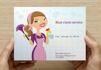 Blue clear service business card Alexandria, 22305