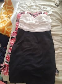 white and pink floral sleeveless dress St. Catharines, L2P 2K3