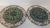 2 wrought iron and carved stone wall hangers New Albany, 47150