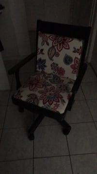 white and black floral padded chair Poway, 92064