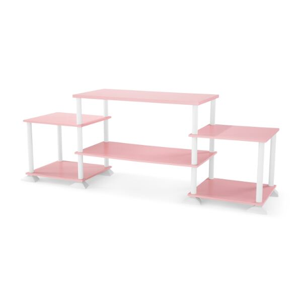 Nuevo! - New ! - Mainstays No-Tool Assembly 3-Cube Entertainment Center for TVs up to 40 - Pink